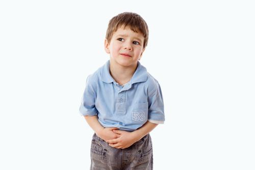ילד סובל מכאבי בטן (אילוסטרציה)