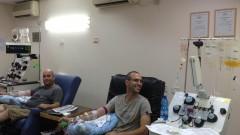 """תרומת טסיות דם ב""""סורוקה"""" (צילום: ביה""""ח סורוקה)"""