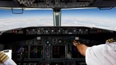 טייסים בעת טיסה מסחרית (צילום: אילוסטרציה)