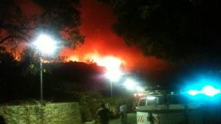 """השריפה בכרמל ופינוי בית החולים """"מעלה הכרמל"""" (צילום:פרופ' אנטולי קריינין)"""