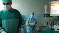 """במהלך הניתוח המשולב להשתלת כבד ולקיצור קיבה (צילום: """"בילינסון"""")"""