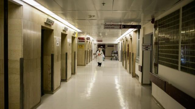 """מסדרונות בית החולים """"הדסה עין כרם"""" (צילום: """"פלאש 90"""")"""