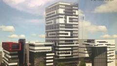 """הדמיה של """"מגדל התגליות"""" המתוכנן להיבנות במרכז הרפואי """"רמב""""ם"""" (צילום: באדיבות """"רמב""""ם"""")"""