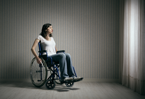 shutterstock) disabled woman)