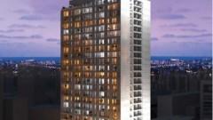 """הדמיית מגדל המגורים החדש לצוות רפואי ב""""איכילוב"""" (מקור: """"איכילוב"""")"""