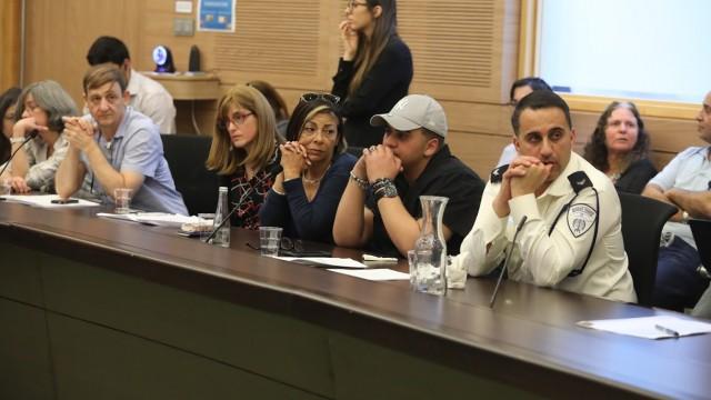 """נציגי משפחות ילדים החולים בסרטן ומטופלים ב""""הדסה"""" (צילום: ועדת הבריאות של הכנסת)"""