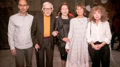 """מימין: פרופ' מיכל שוורץ, ד""""ר ורד דרנגר, רות רפפורט, פרופ' מיכאל סלע וד""""ר גד אשר (צילום: יח""""צ)"""