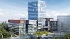 """הדמיית """"מגדל התגליות"""" של המרכז הרפואי """"רמב""""ם"""" ואוניברסיטת חיפה (מקור: """"רמב""""ם"""")"""